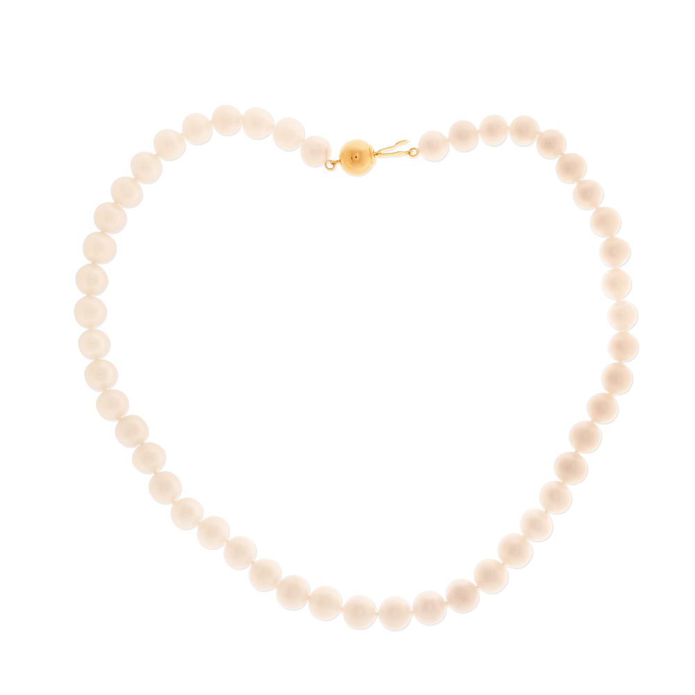 White Freshwater Strand White Pearl Necklace