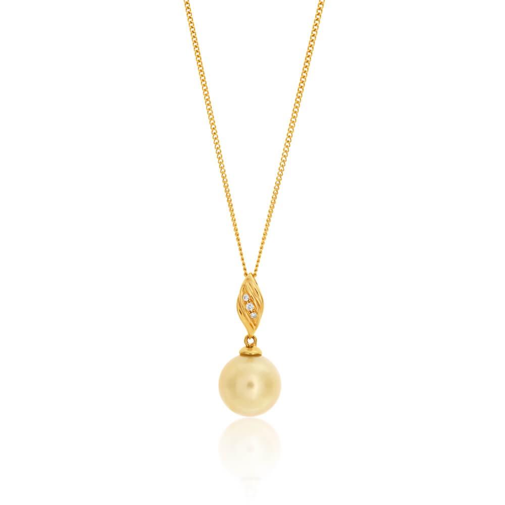9ct Yellow Gold Cream South Sea Pearl Pendant