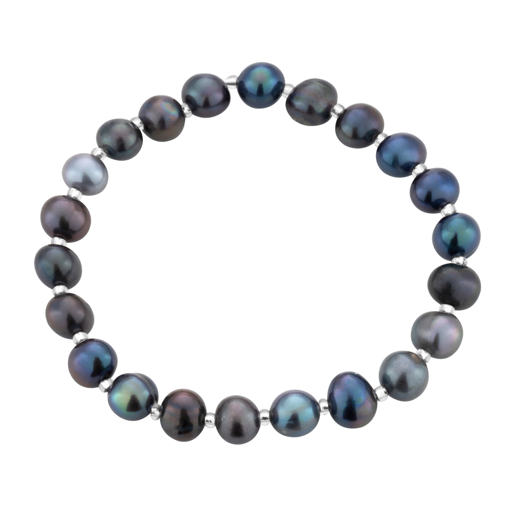 Grey 6-6.5 mm Freshwater Pearl Bracelet