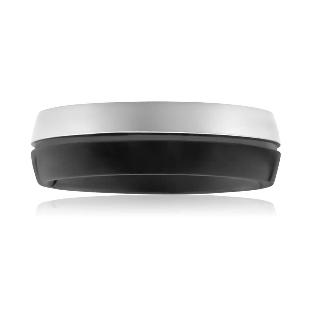 Forte Stainless Forte Black Steel Ring