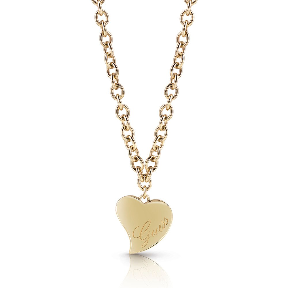 Guess Gold Plated Love Heart Chain