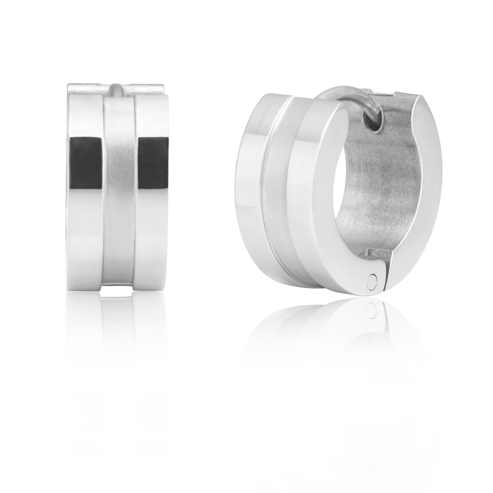 Forte Stainless Steel Hoop Earrings