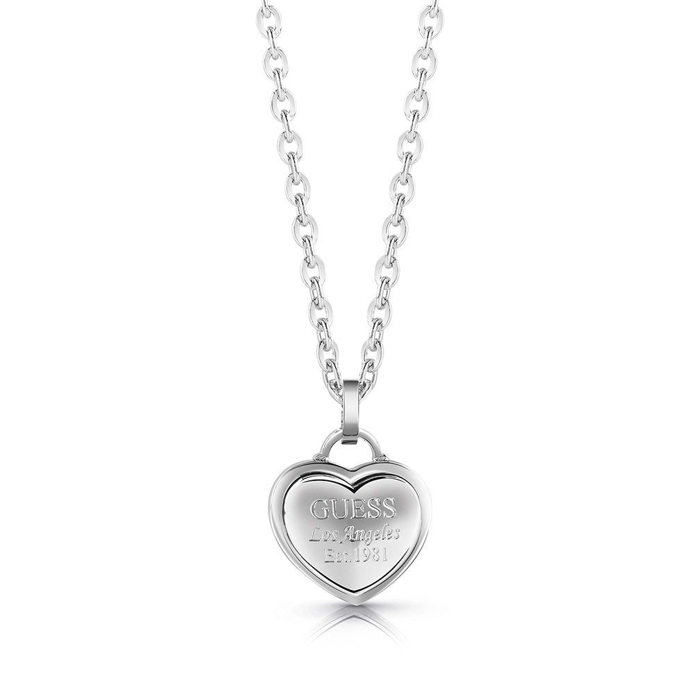 GUESS 45cm Silver Plated Small Heart Chain