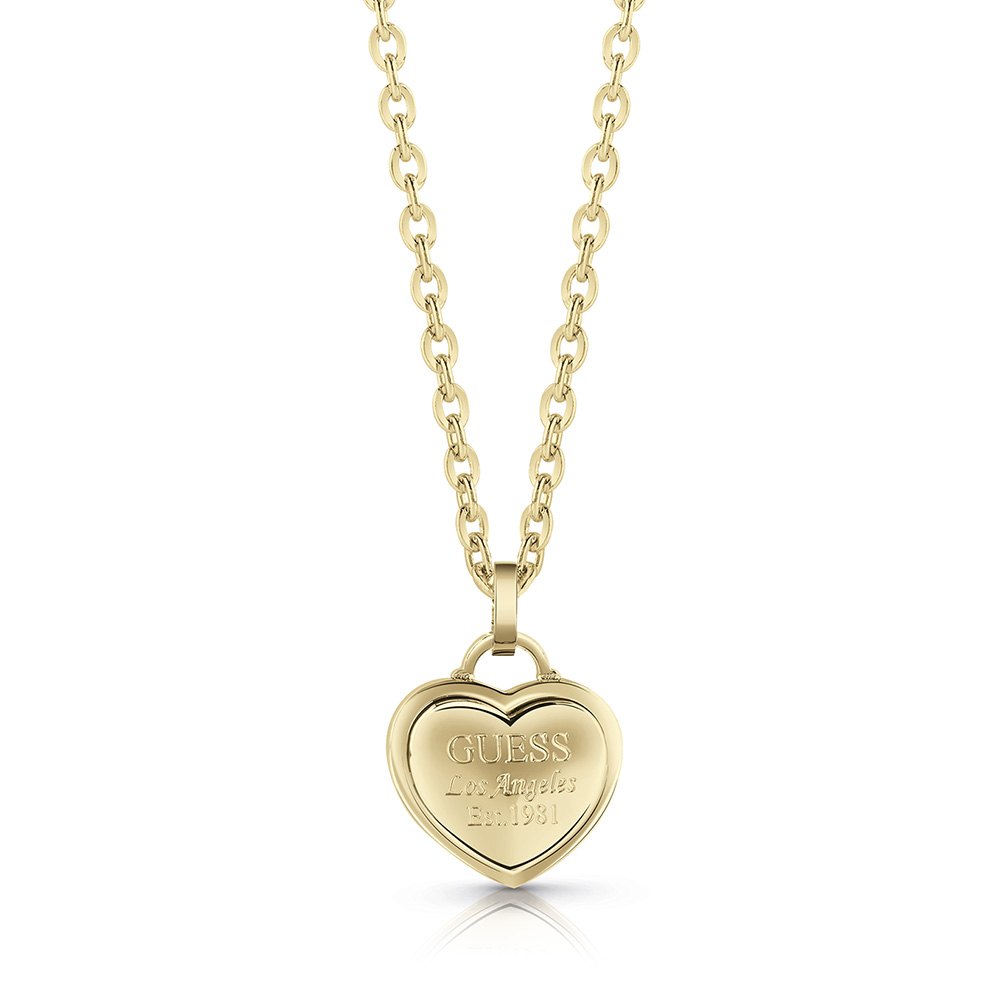 GUESS 45cm Gold Plated Small Heart Chain