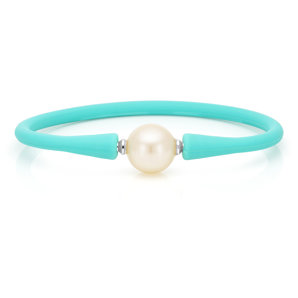 Simulated Pearl 12mm Bracelet Turquoise