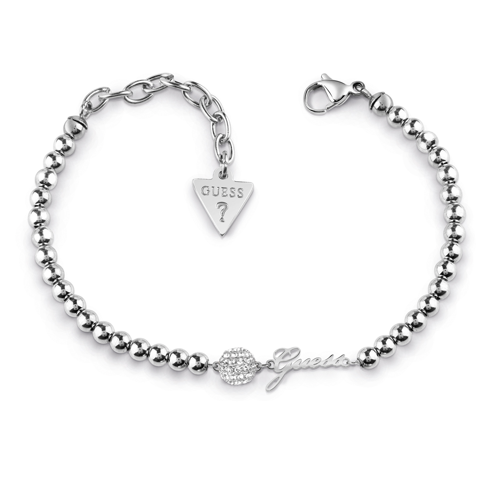 GUESS Silver Plated Stone Set Bracelet