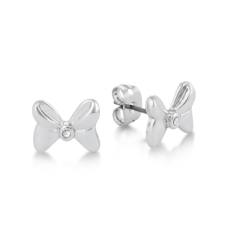 DISNEY Minnie Mouse Crystal Bow Stud Earrings
