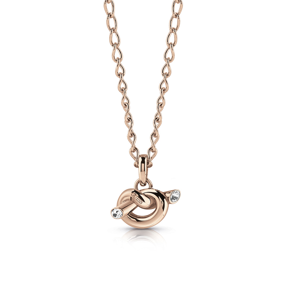 GUESS Rose Plated Knot Necklace