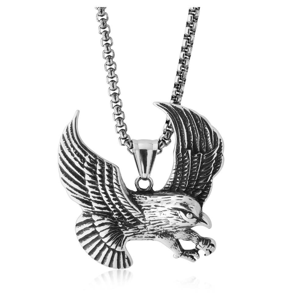 Stainless Steel Eagle Pendant with 50cm Chain