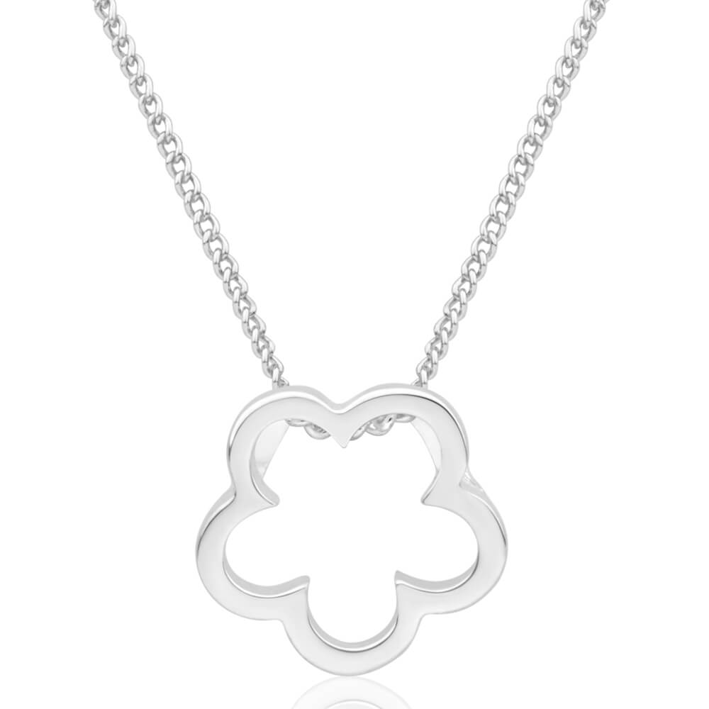 Silver Plated Small Flower Pendant