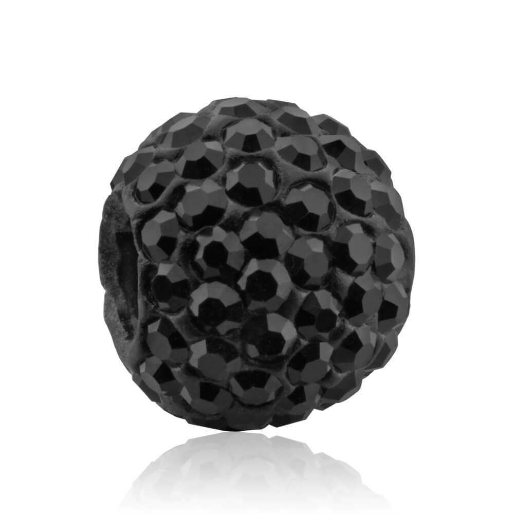 Amadora Black Crystal Charm