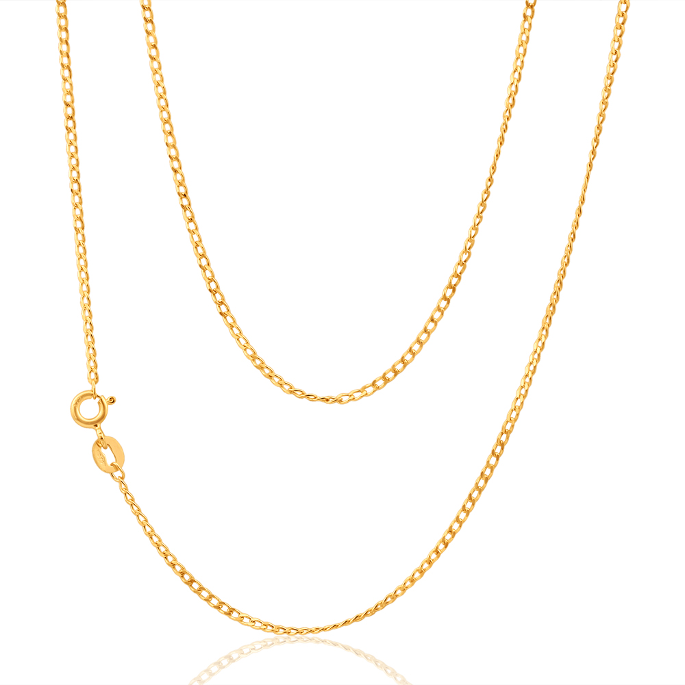9ct Yellow Gold 40 gauge 40cm Curb Chain