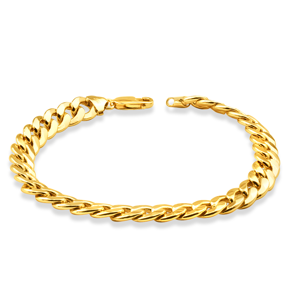 9ct Yellow Gold Copper Filled Curb Bracelet