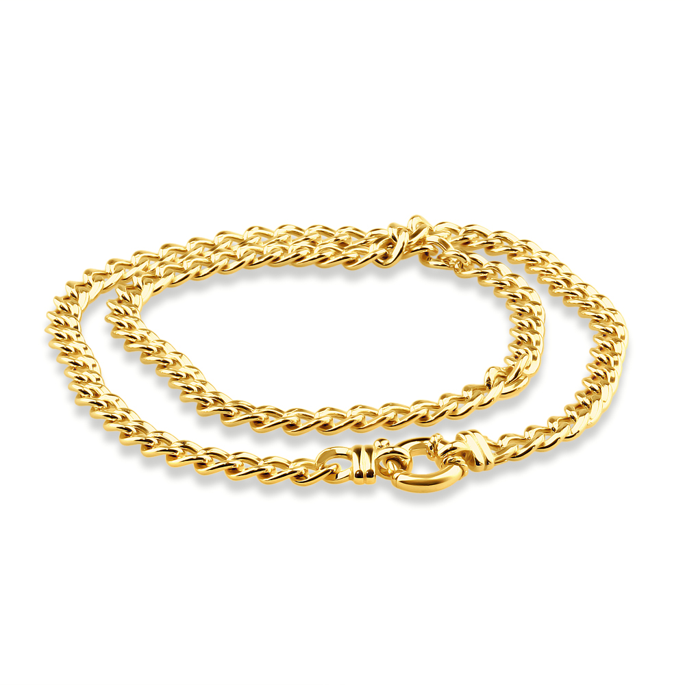 9ct Yellow Gold Copper Filled 45cm Curb Chain Boltring 150Gauge