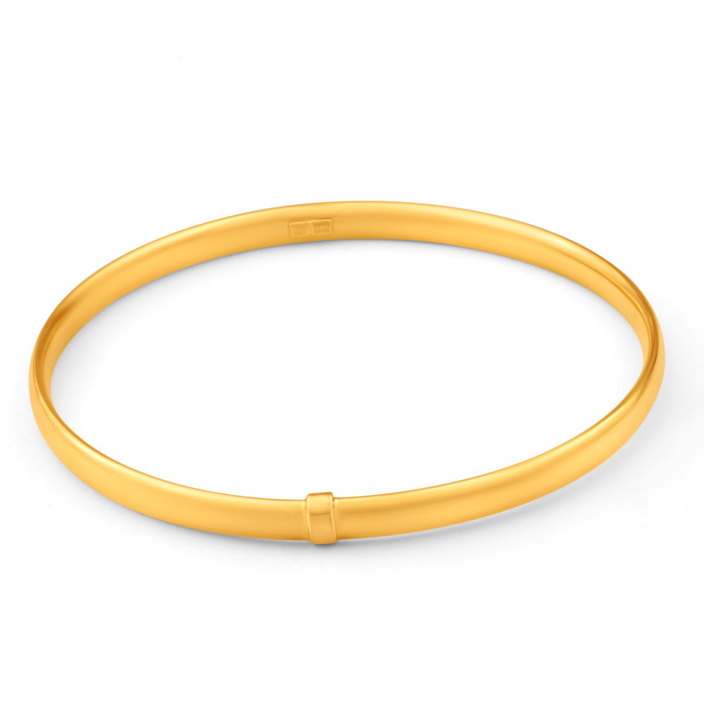 9ct Yellow Gold Silver Filled Bangle