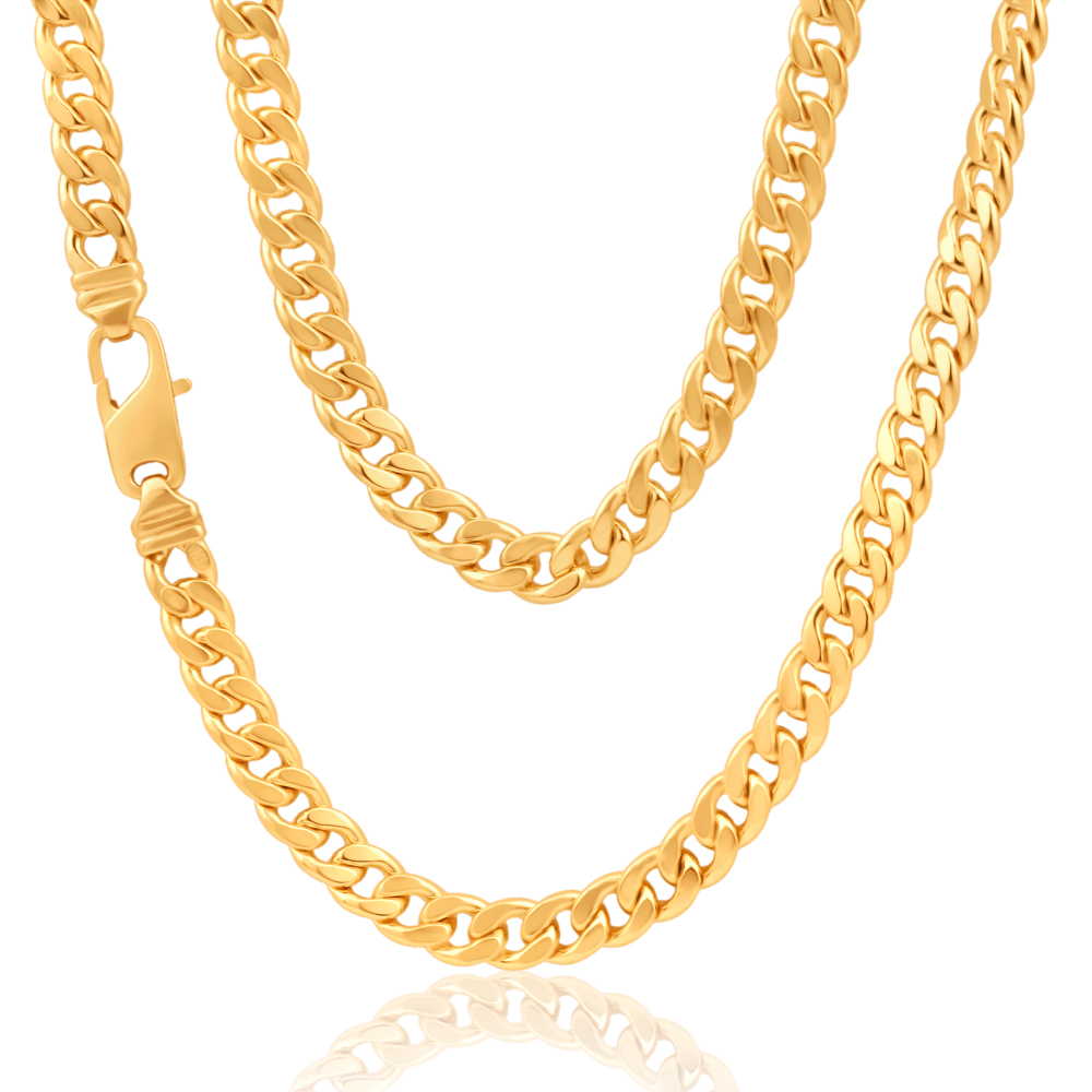 9ct Gorgeous Yellow Gold Copper Filled Curb Chain