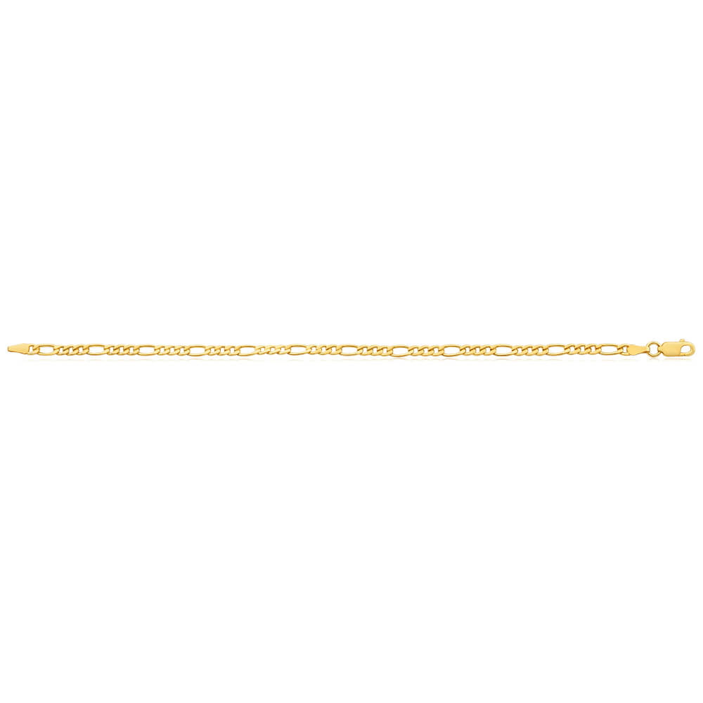 9ct Yellow Gold Copper Filled Figaro Bracelet