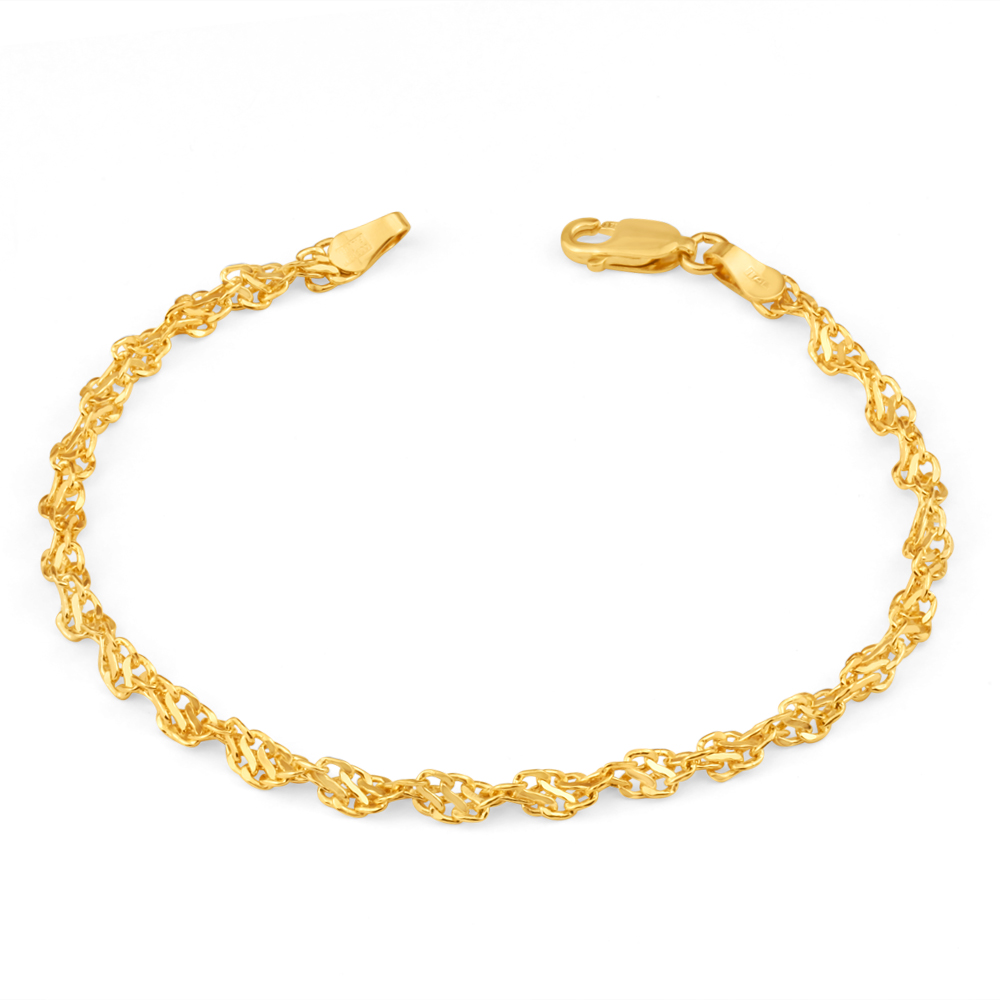 9ct Yellow Gold Copper Filled Singapore Bracelet