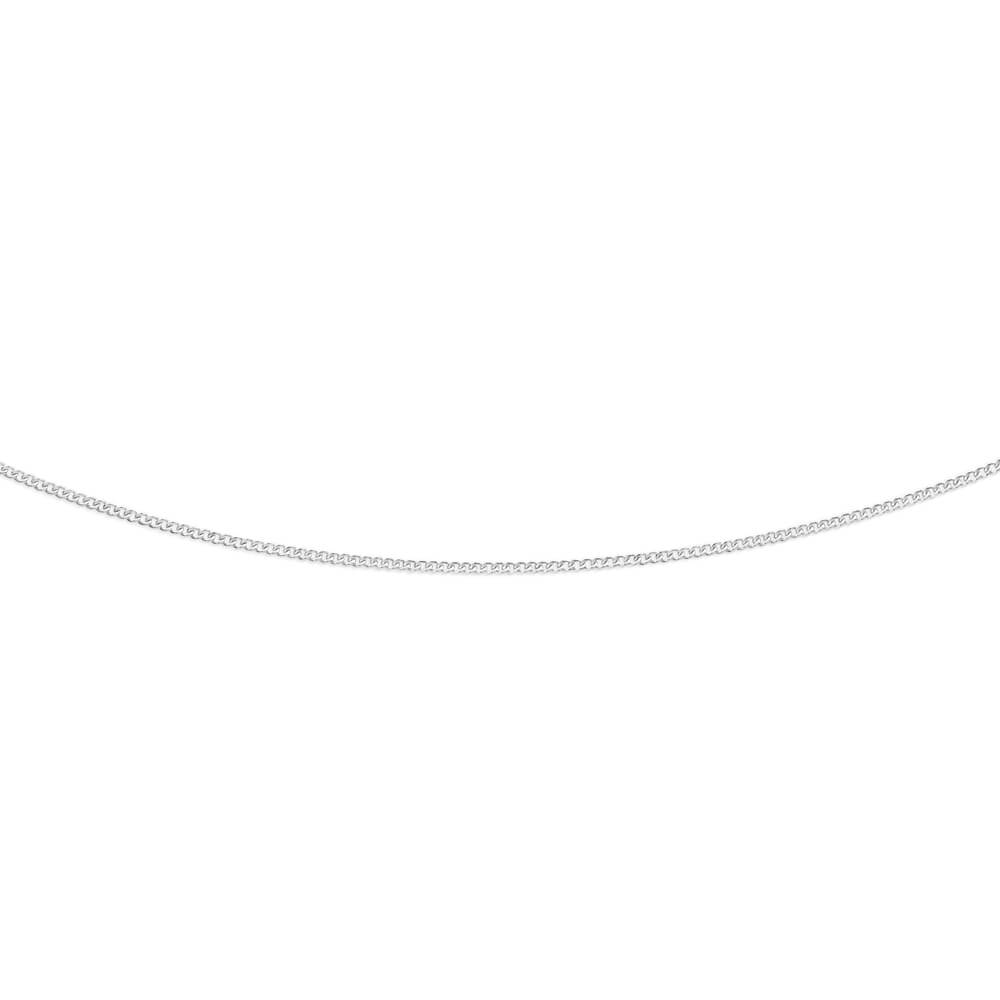 9ct Radiant White Gold Silver Filled Curb Chain