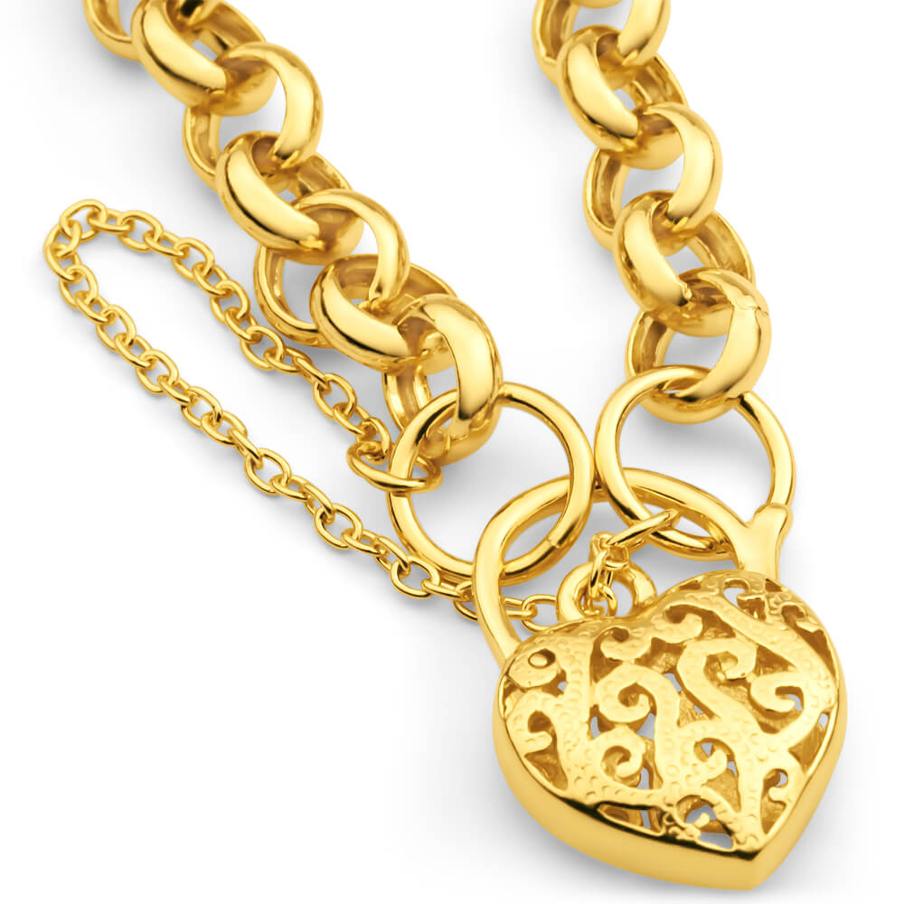 9ct Yellow Gold Belcher Bracelet