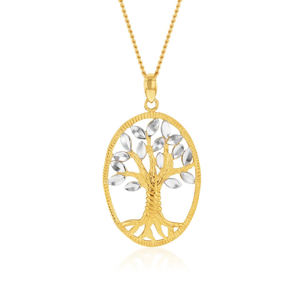 9ct Yellow Gold Tree Of Life Pendant