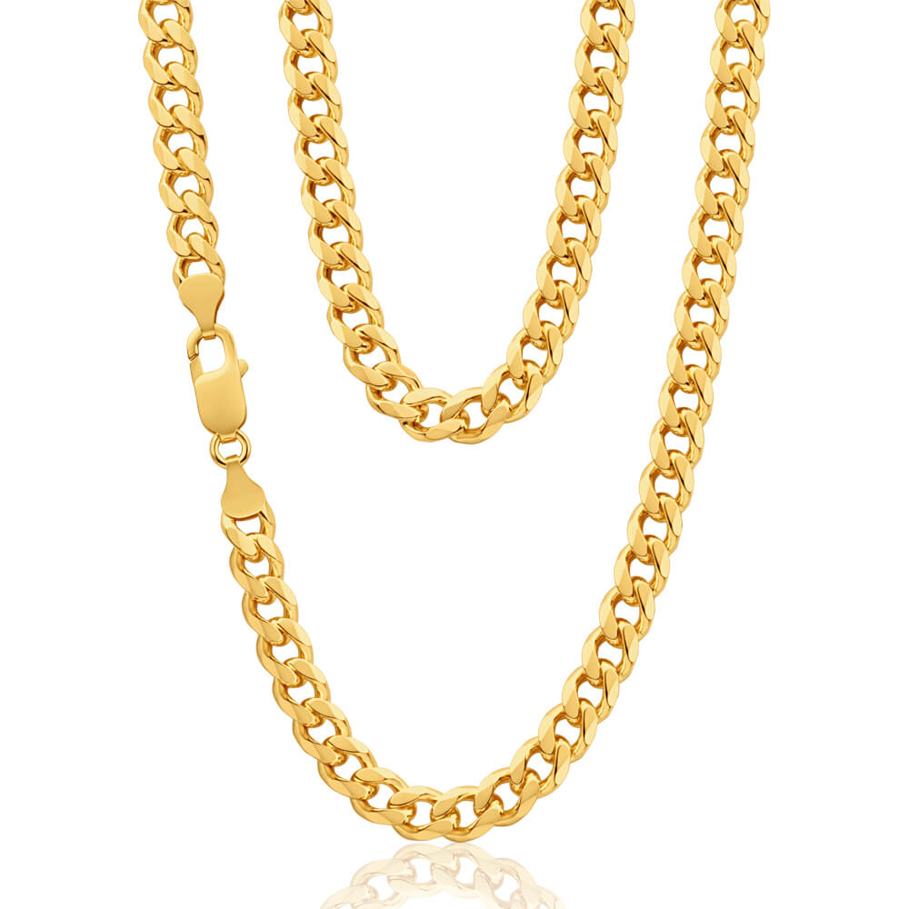 """9ct Yellow Gold """"Theo"""" Curb Chain"""