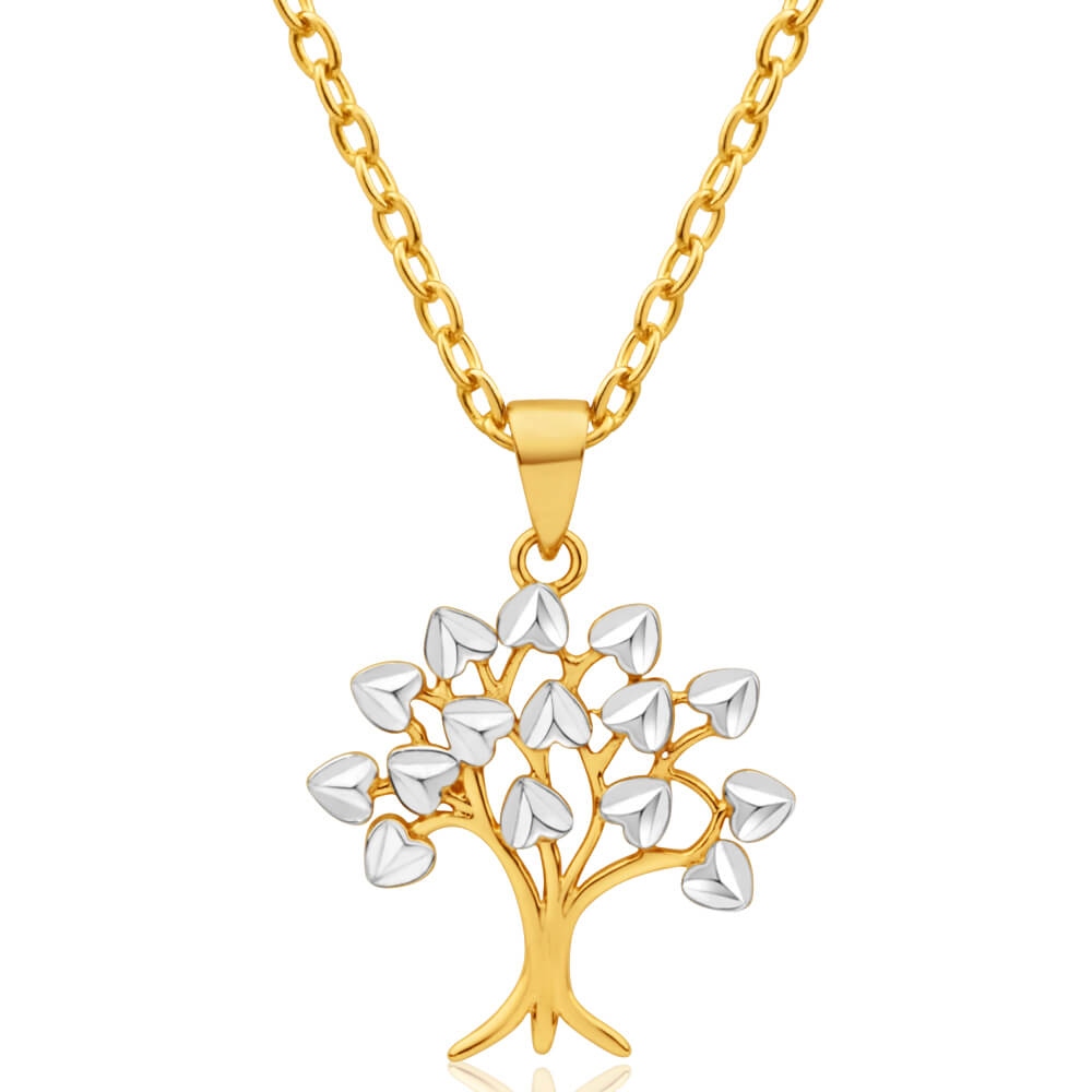9ct Yellow Gold & White Gold Tree of Life Pendant