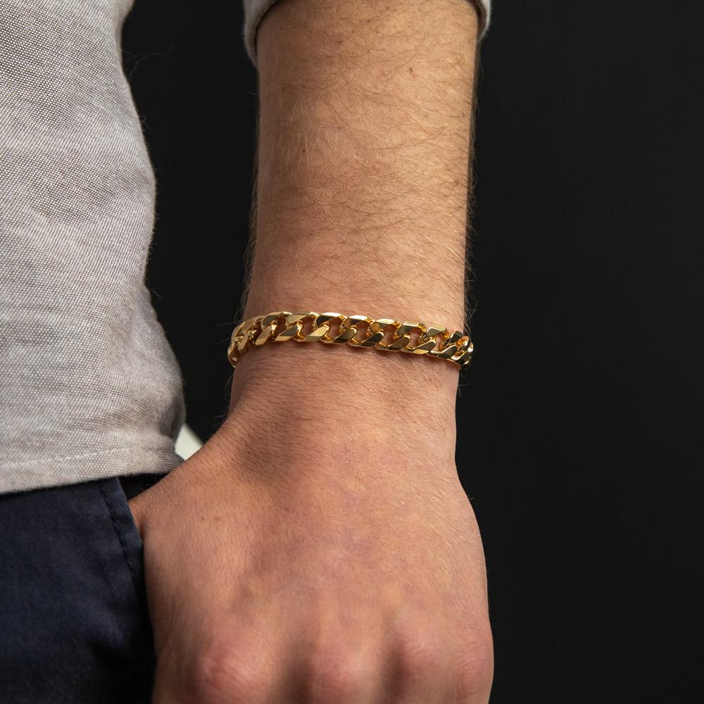 9ct Yellow Gold Curb 23cm Bracelet
