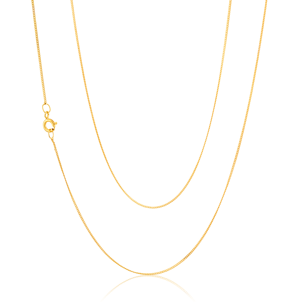 9ct Yellow Gold 45cm Curb Chain 9Y