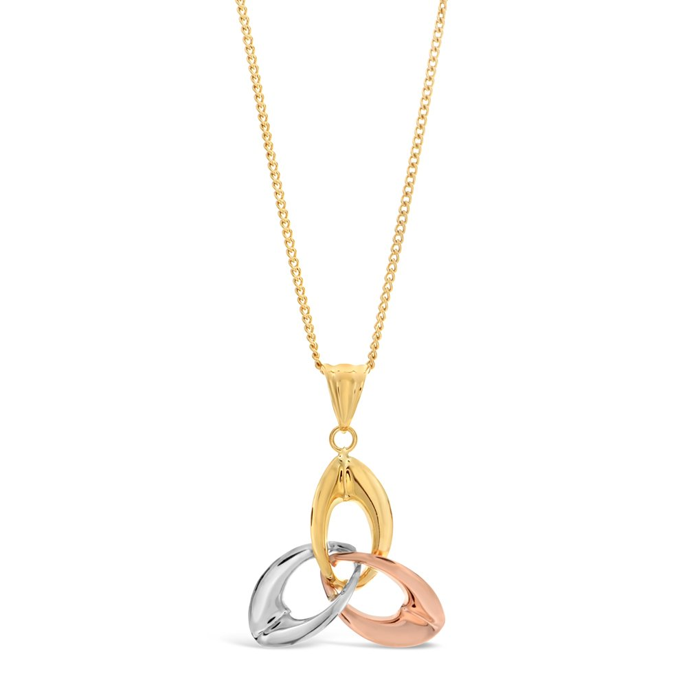 9ct Three-Tone Gold Triology Pendant