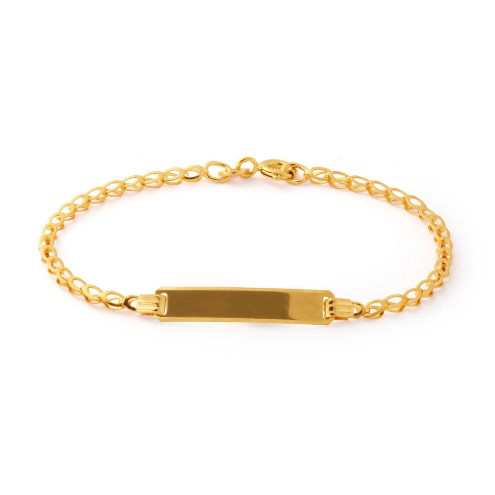 9 ct Belcher 16cm ID Bracelet