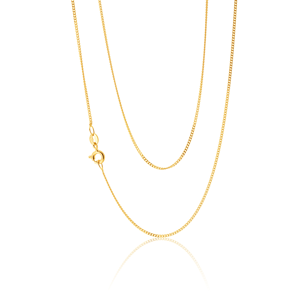9ct Yellow Gold 31 Gauge 46cm Chain