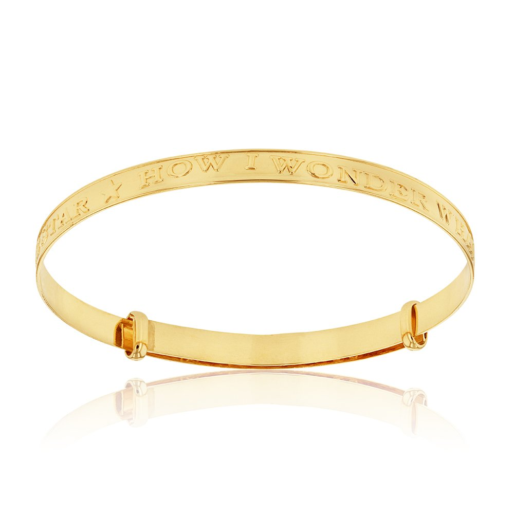 9ct Yellow Gold Twinkle 3mm Expandable Bracelet In Box