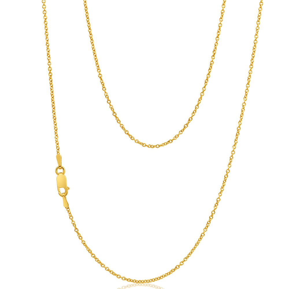 9ct Superb Yellow Gold Silver Filled Belcher Chain