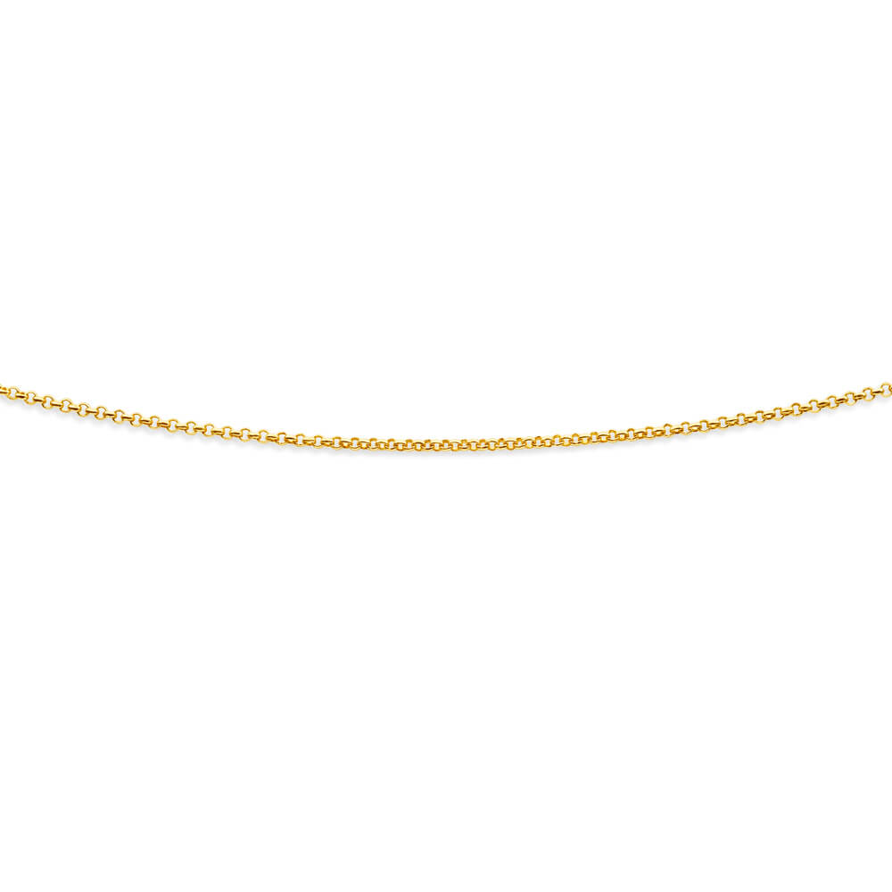 9ct Charming Yellow Gold Silver Filled Belcher Chain