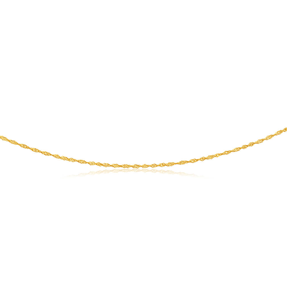 9ct Yellow Gold Silver Filled Singapore 45cm Chain 20cm Gauge