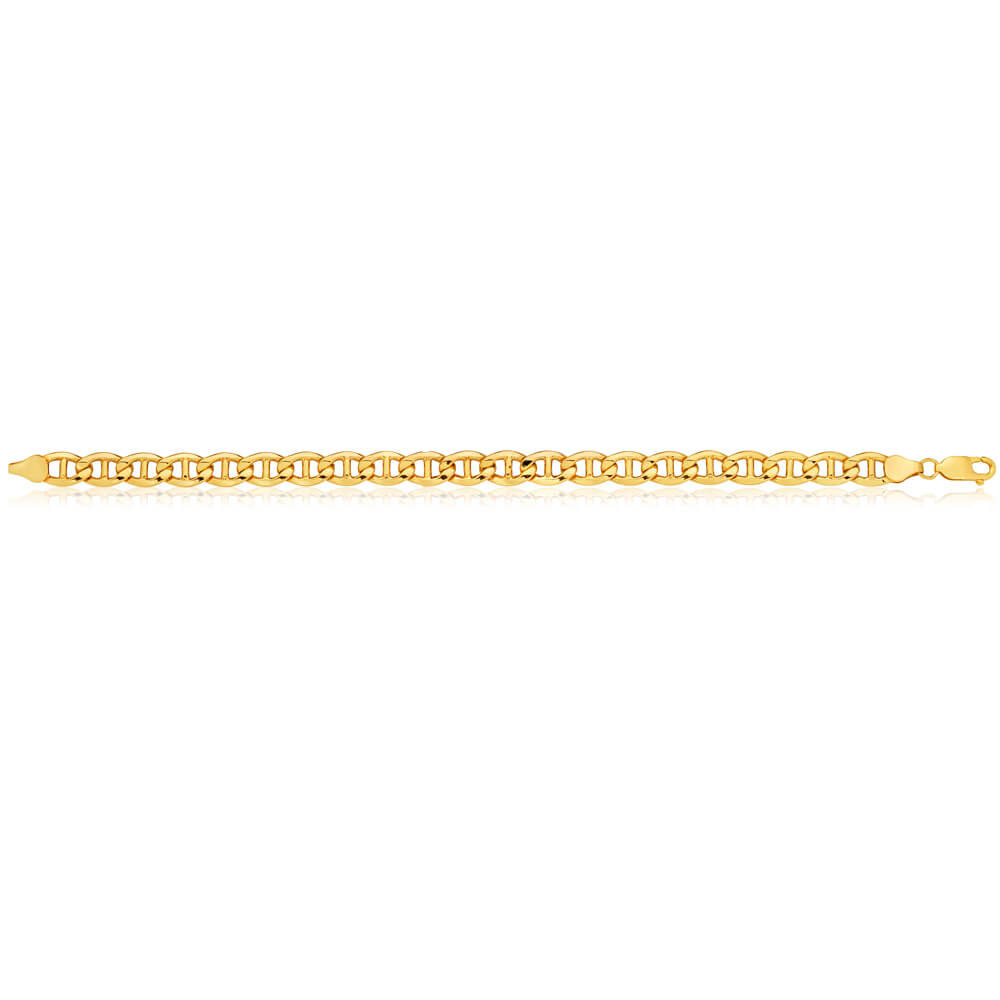 9ct Yellow Gold Silver Filled Anchor Bracelet