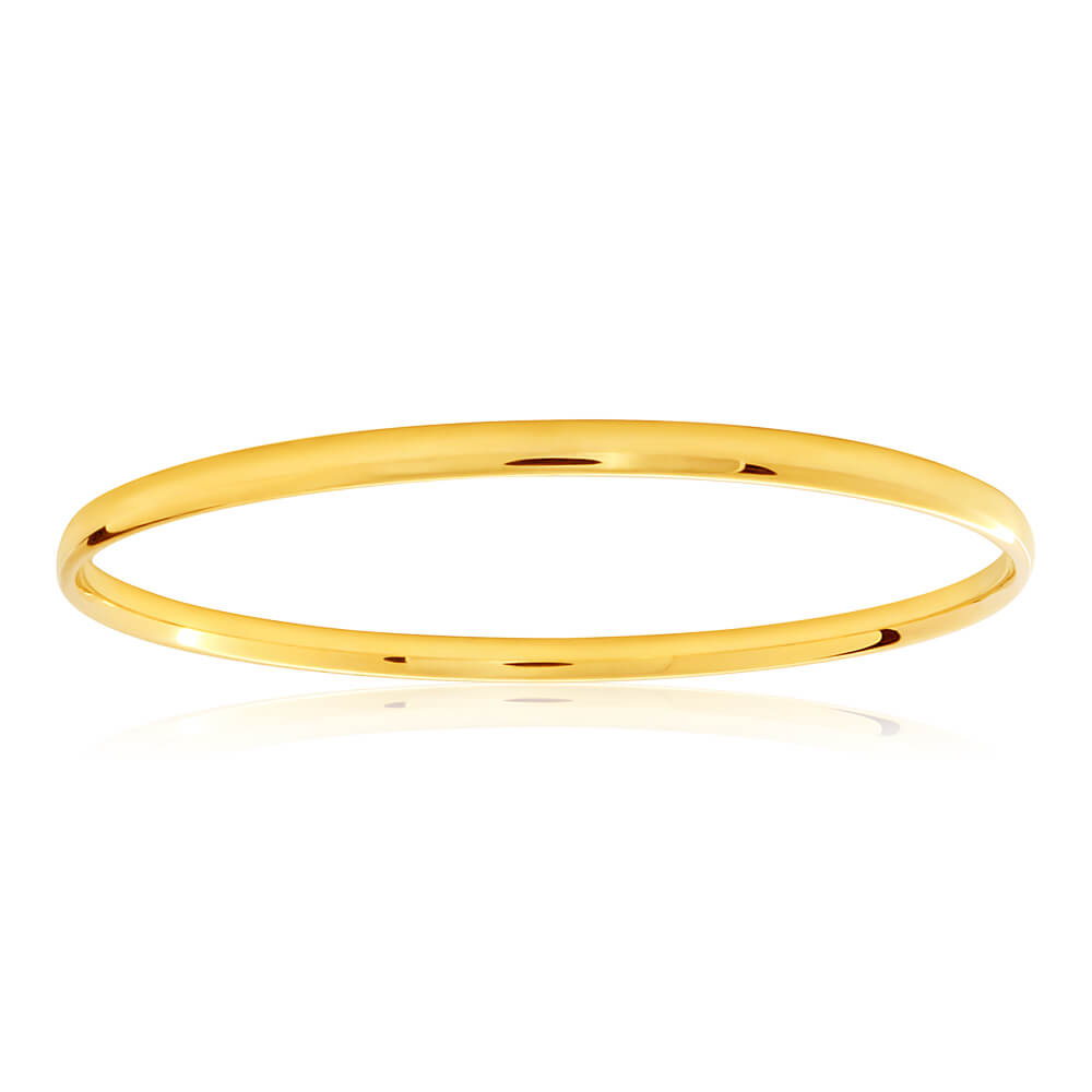 9ct Gorgeous Yellow Gold Copper Filled Bangle