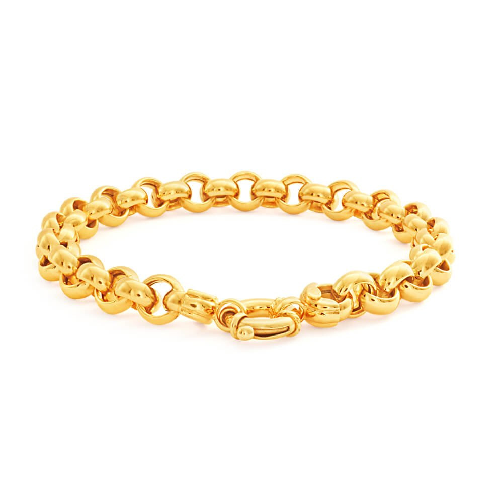 9ct Charming Yellow Gold Silver Filled Belcher Bracelet