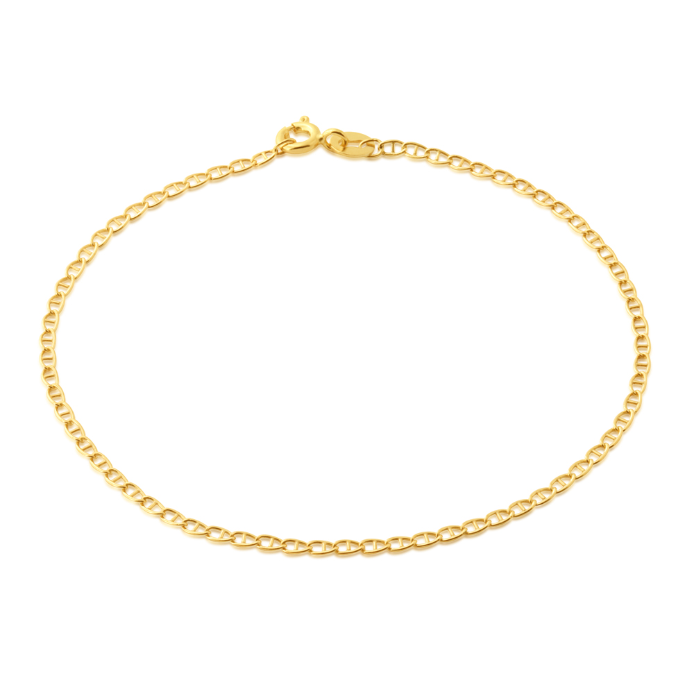 9ct Yellow Gold Filled 19cm Anchor Bracelet