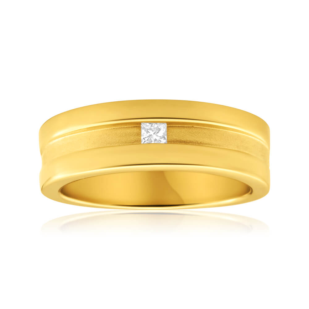 9ct Yellow Gold Valentino Diamond Ring