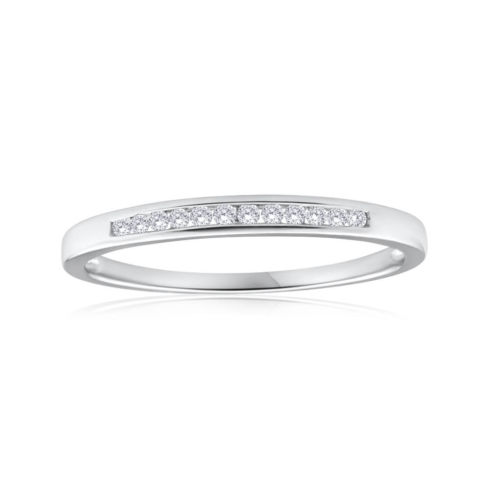 9ct White Gold Splendid Diamond Ring