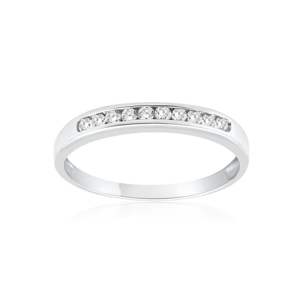 9ct White Gold Delightful Diamond Ring