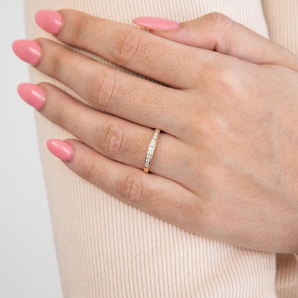 9ct Yellow Gold Divine Diamond Ring