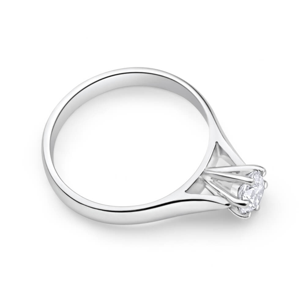 9ct White Gold Solitaire Ring With 0.5 Carat Diamond
