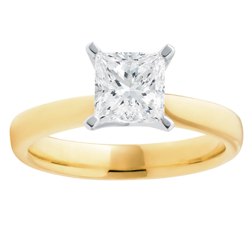 18ct Yellow Gold Solitaire Ring With 1 Carat Certified Diamond