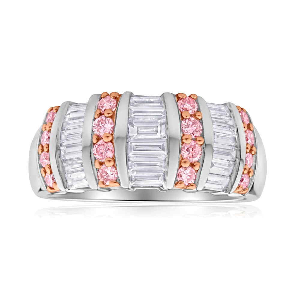 Pink Diamond 18ct White Gold 1 Carat Diamond Ring