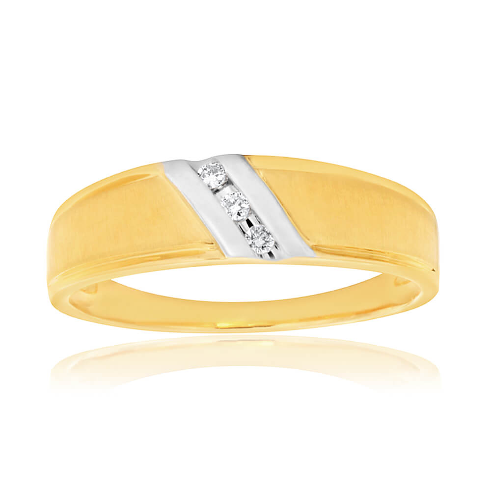 9ct Yellow Gold Diamond Promotional Ring