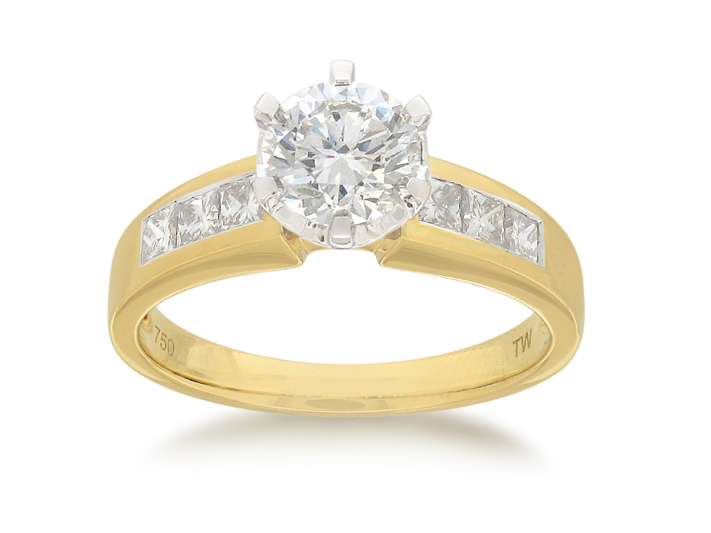 18ct Yellow Gold Ring With 1.50 Carats Of Diamonds