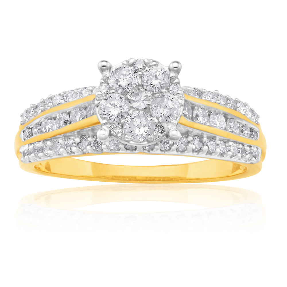 9ct Yellow Gold 1.00 Carat Diamond Ring